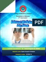 Internal Medicine III Logbook 2011-2012