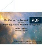 Andrew Hopkins- The Cosmic Star Formation History and the Diffuse Supernova Neutrino Background