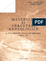 Materiale si cercetari arheologice (MCA), XVI, 1982