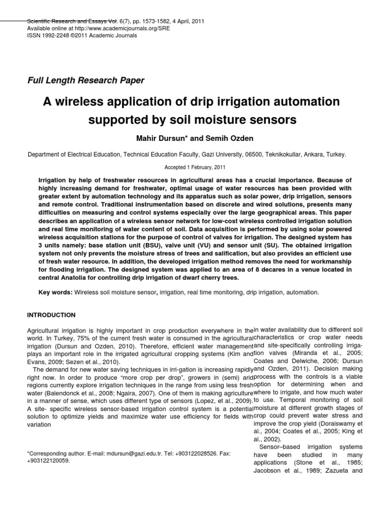irrigation research paper