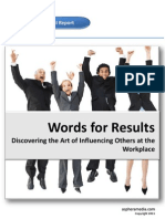 media Special Report on Words for Results