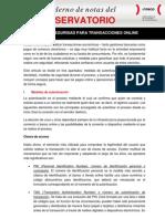 Medidas de seguridad para transacciones online