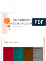 Reposición de Electrolitos