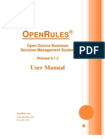 Open Rules User Manual