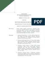 Permendiknas No. 10 Tahun 2009-Sertifikasi Guru Dalam Jabatan