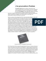 Historia de Los Procesadores Pentium