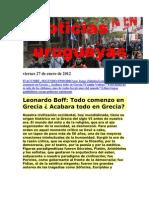Noticias Uruguayas jueves 26 de Enero de 2012