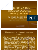 Reforma Procesal Laboral Dr Toledo