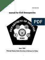 DOD Manual for Civil Emergencies 1994