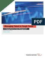 Managing Talent Pulse Survey 12-28-09