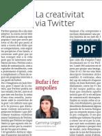 La creativitat via Twitter, article publicat a El 3 de vuit
