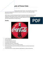 SWOT Analysis of Coca Cola