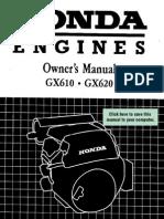 Honda GX610 Owners Manual