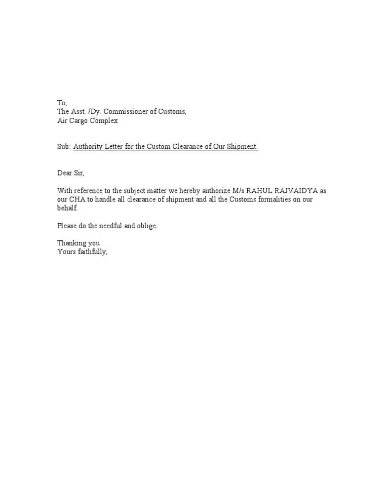 Authority letter format spiritdancerdesigns Gallery