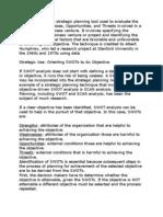 SWOT Analysis 1