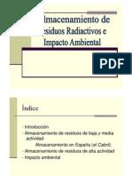 Almacenamiento de Residuos Radiactivos e Impacto Ambiental. Presentacion