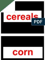 Cereals in englsih & marathi
