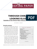 Susidies in Chinese Glass Industry 2004-2008