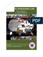 Domestic Operational Law Handbook for Judge Advocates, 2011