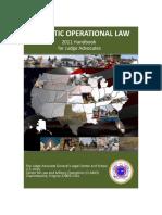 Domestic Operational Law Handbook for Judge Advocates, 2011
