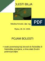 BOLESTI BILJA