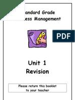 SGBM Revision Homework Unit 1