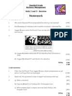 SGBM Revision Homework Units 2-3