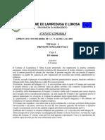 Statuto Comune di Lampedusa e Linosa
