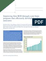 Deloitte Improving ROI Through Pro Bono Programs