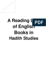 A Reading List of English Books in Hadith