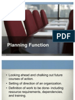 Planning Function