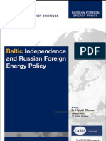 Baltic Independence and Energy Politics