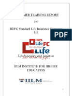 A Summer Training Report on HDFC life