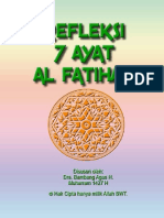 Refleksi 7 Ayat Al Fatihah