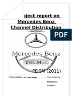 A Project Report on Mercedes Benz Channel ion Document