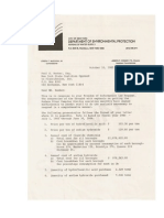 NYC 1985 Fluoridation Cost Letter