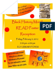 Black History Month READ Flier