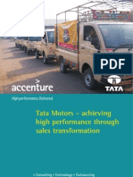 Accenture-Tata Motors—Achieving High performance Through Sales Transformation