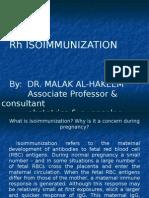 Rh Iso Immunization - Dr. Malak
