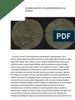 Una Moneda Romana en La Cordillera Patagonica