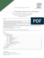 Recent Advances in Reversed Micells Eastoe 2006