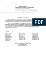 North Carolina Employment Securities Commission Regulations issued July 27, 2010