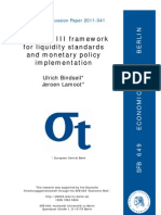Basel 3 Framwork for Liquidity Standard and Monetary Policy Implementation