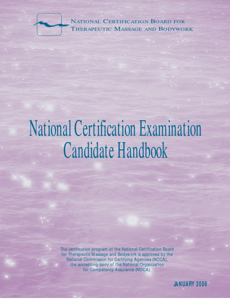 Massage Board Handbook Identity Document Professional Certification