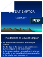 Doctrine of Caveat Emptor and Hire Purchase Law
