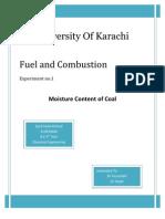 Moisture content of coal