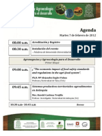 Programación Seminario Agronegocios y Agroecologia para el desarrollo Feb 2012