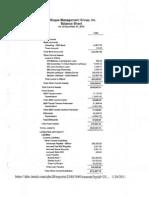 LMG Balance Sheet