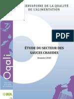 Oqali Rapport Sauces Chaudes 2011