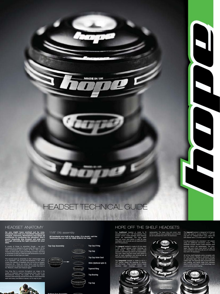 Hope Pick/'n/'Mix Headset Lower Assembly B S.H.I.S ZS44//28.6 for 1-1//8 Integral